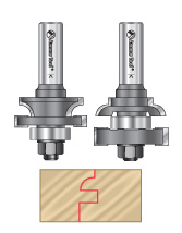 2-pc Stile & Rail Router Bit Sets
