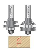2-pc Stile & Rail Router Bit Sets