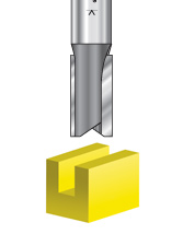 Double 'O' Flute Plastic Cutting Router Bits