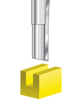 Solid Carbide Single 'O' Flute Plastic Cutting Router Bits