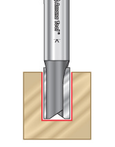 High Production Straight Plunge Router Bits