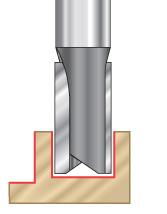 Straight Plunge Open Flute CNC Router Bits