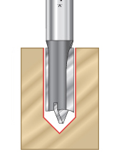 Straight Plunge Open Flute Through Plunge CNC Router Bits