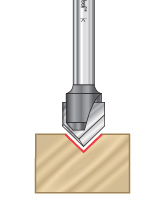 """Zero Point"" V-Groove Router Bits"