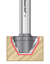 60 Degree Lettering Router Bits