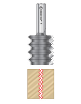 V Joint Router Bits