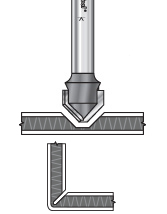 Double Edge Folding 'V' & Rectangular Groove Router Bits for Aluminum Composite Material (ACM) Panels
