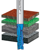 Solid Carbide Spektra™ Extreme Tool Life Coated Spiral Phenolic, Resin and Composite with Chipbreaker Router Bits