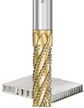 Solid Carbide Spiral Honeycomb Hogger CNC Router Bits