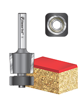 Carbide Tipped Laminate Trimmer with Euro™ Square Bearing Router Bits