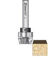 Bevel Trim Router Bits with Upper Ball Bearing