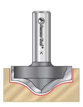 Round & Ogee Groove Router Bits