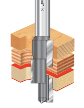 Carbide Tipped Compression 3 Blade Stagger CNC Router Bits
