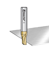 Solid Carbide Straight Soft Aluminum Cutting Zirconium Nitride (ZrN) Coated Router Bits