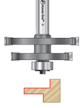 Offset Mortise-And-Tenon Router Bits for Mission Style Glass Doors
