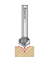 Point Cutting Roundover Router Bits