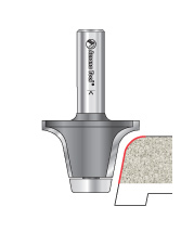 Countertop Round Over Router Bits with Ultra-Glide Ball Bearing Guide