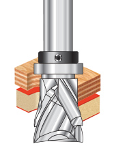 Spiral Pattern/Plunge Compression Router Bits