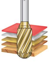 SC Burrs Radius Cylinder Shape Non-Ferrous Burr Bits