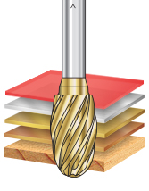 SE Burrs Oval Shape Non-Ferrous Burr Bits