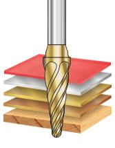 SL Burrs Radius Cone Shape Non-Ferrous Burr Bits
