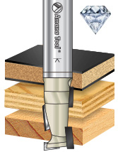 Diamond Tipped (PCD) CNC Up/Down Shear Right Hand Rotation Router Bits