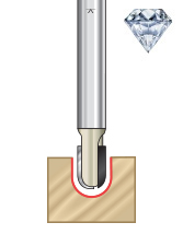 Diamond Tipped (PCD) CNC Ball Nose Router Bits