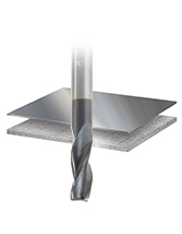 Solid Carbide AlTiN Coated Steel Cutting CNC Metric Router Bits