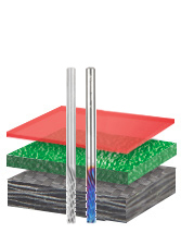Solid Carbide Carbon Graphite and Carbon Fiber Panel Cutting CNC Metric Router Bits