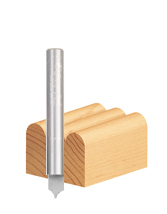 Solid Carbide Point Cutting Round Over CNC Metric Router Bit