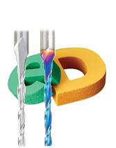 Solid Carbide Foam Cutting Spiral CNC Metric Router Bits