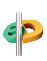 High Speed Steel (HSS) Foam Cutting Straight V-Flute Metric Router Bit