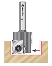 Economy Insert Staggered Plunge Router Bits