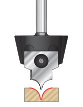 Tru Point Insert Roundover CNC System Router Bits