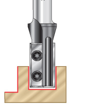 Straight Plunge Insert CNC Router Bits