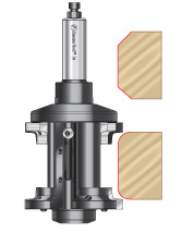 Double Rounding & Chamfering Insert CNC Router Bit Systems