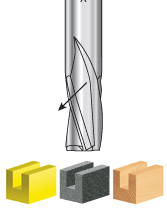 Solid Carbide Slow Spiral Router Bits