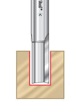 Solid Carbide Straight Plunge Router Bits