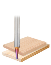 Solid Carbide Spektra™ Extreme Tool Life Coated Carving/Engraving Router Bits