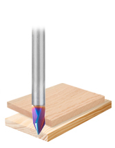 Solid Carbide Spektra™ Extreme Tool Life Coated V-Groove Signmaking & Lettering Router Bits