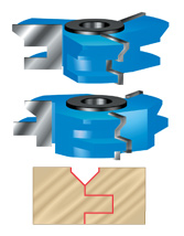 V' Paneling Shaper Cutter Sets