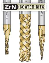 ZrN Coated Router Bits/End Mills
