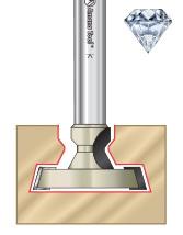 Diamond Tipped (PCD) CNC T-Slot Router Bits