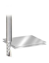 Solid Carbide Aluminum Spiral 'O' Flute CNC Metric Router Bits