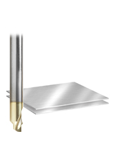 Solid Carbide Aluminum Chamfer Edge End Mill with ZrN coating