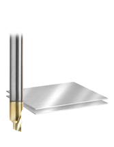 Solid Carbide Aluminum Radius Edge End Mill with ZrN coating