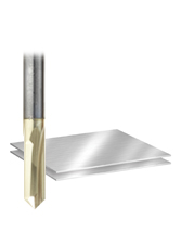 "Solid Carbide ""Zero-Point"" Engraving Router Bits for V Grooving"