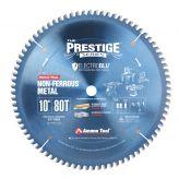 510801C Electro-Blu™ Carbide Tipped Prestige™ Aluminum and Non-Ferrous Metals 10 Inch Dia x 80T TCG, -6 Deg, 5/8 Bore, Non-Stick Coated