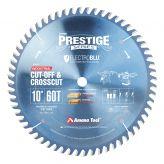 610600C Electro-Blu™ Carbide Tipped Prestige™ Cut-Off and Crosscut 10 Inch Dia x 60T ATB, 10 Deg, 5/8 Bore, Non-Stick Coated