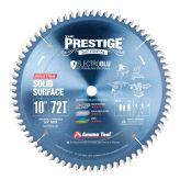 610721C Electro-Blu™ Carbide Tipped Prestige™ Solid Surface 10 Inch Dia x 72T MTC, 0 Deg, 5/8 Bore, Non-Stick Coated